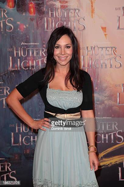 Sandra Ahrabian attends the 'Die Hueter des Lichts' Germany Premiere on November 12 2012 in Munich Germany