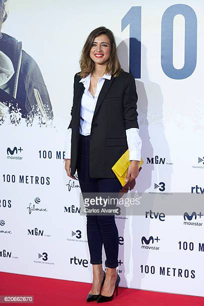 Sandra Barneda attends '100 Metros' premiere at Capitol cinema on November 2 2016 in Madrid Spain
