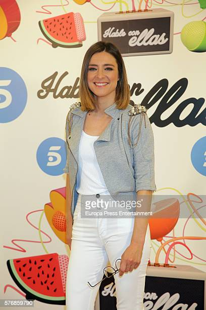 Sandra Barneda attends 'Hable Con Ellas' Tv show presentation at Telecinco on July 15 2016 in Madrid Spain