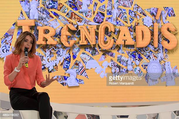 Sandra Barneda presents her latest television show 'Trencadis' at the 8TV studio on August 27 2015 in Barcelona Spain