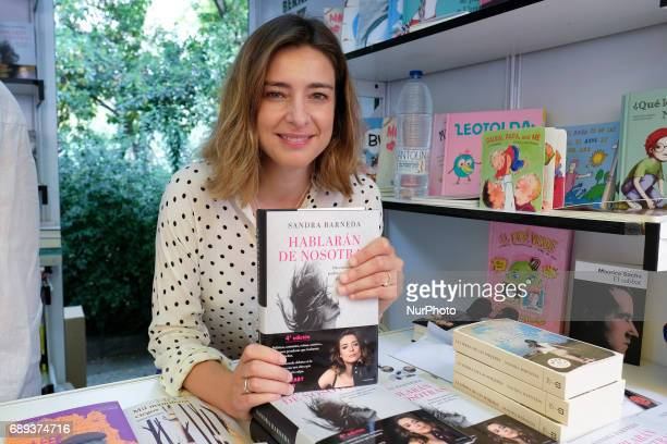 Sandra Barreda signs books during the book fair in Madrid held from May 26 to July 11 2017 in Retiro Park in Madrid Spain May 28 2017