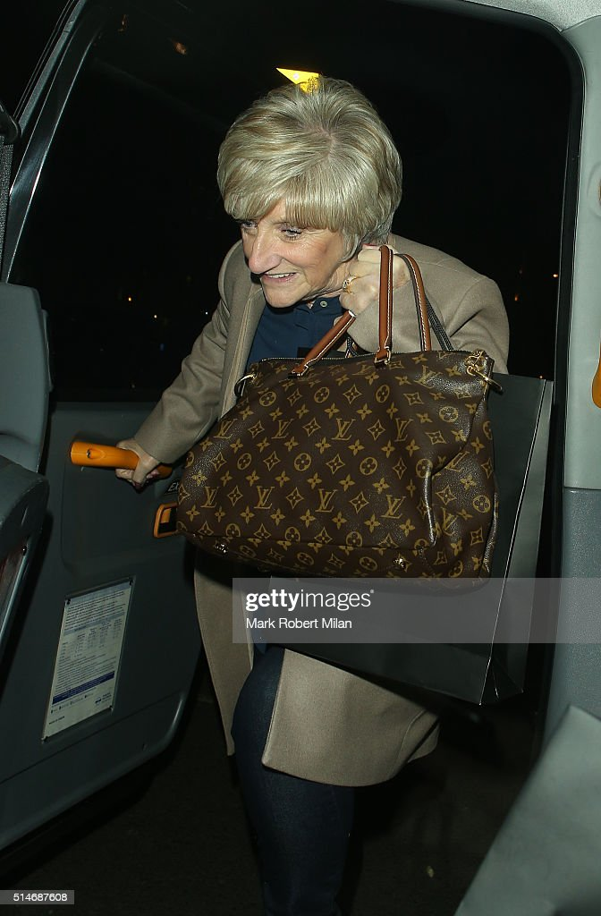 Sandra Beckham leaving Phillips auction house on March 10, 2016 in London, England.