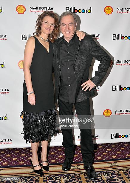 Sandra Bernhard and Neil Diamond attend the 2012 Billboard Touring Awards Reception at The Roosevelt Hotel on November 8 2012 in New York City