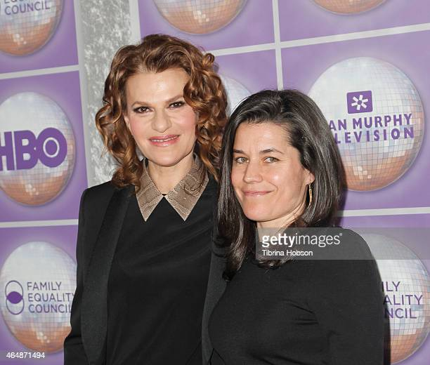 Sandra Bernhard and Sara Switzer attend the Family Equality Council's Los Angeles awards dinner at The Beverly Hilton Hotel on February 28 2015 in...