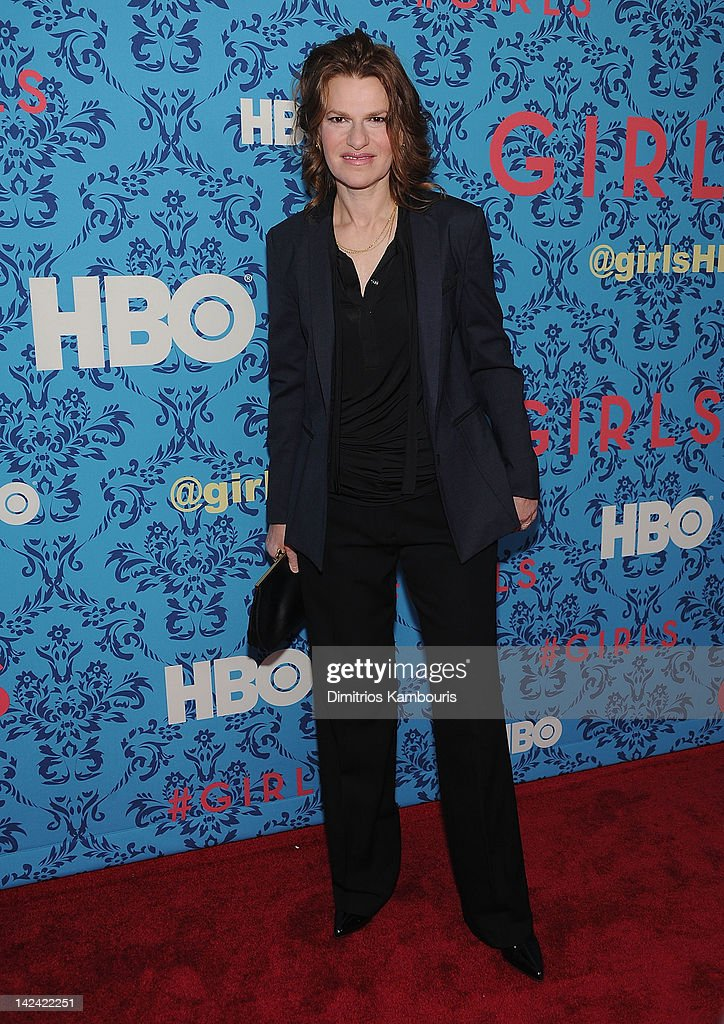 <a gi-track='captionPersonalityLinkClicked' href=/galleries/search?phrase=Sandra+Bernhard&family=editorial&specificpeople=204693 ng-click='$event.stopPropagation()'>Sandra Bernhard</a> attends the HBO with the Cinema Society host the New York premiere of HBO's 'Girls' at the School of Visual Arts Theater on April 4, 2012 in New York City.