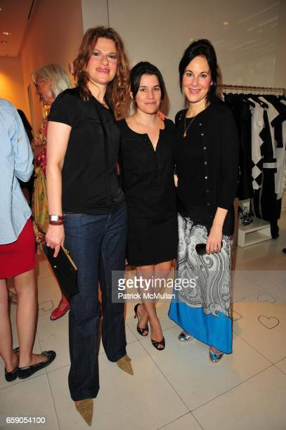 Sandra Bernhard Sara Switzer and Punch Hutton attend Moschino Toasts Ross Bleckner at Moschino NYC on April 28 2009