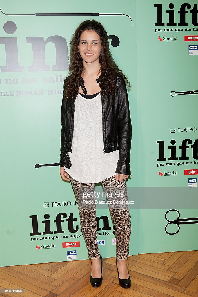 Sandra Blazquez attends the 'Lifting' premiere at Infanta Isabel Theatre on March 21, 2013 in Madrid, Spain.