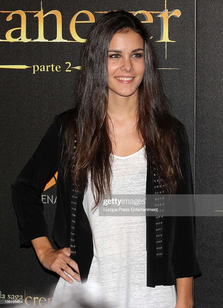 Sandra Blazquez attends 'The Twilight Saga: Breaking Dawn - Part 2' photocall at Kinepolis Cinema on November 15, 2012 in Madrid, Spain.