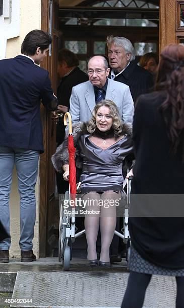 Sandra Brock mother of Verena Brock attends the wedding of Gil Ofarim and Verena Brock on December 15 2014 in Ismaning Munich Germany