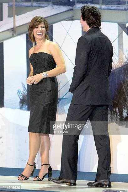 Sandra Bullock and Keanu Reeves during 'The Lake House' Tokyo Premiere Stage Greeting at Roppongi Hills Arena in Tokyo Japan