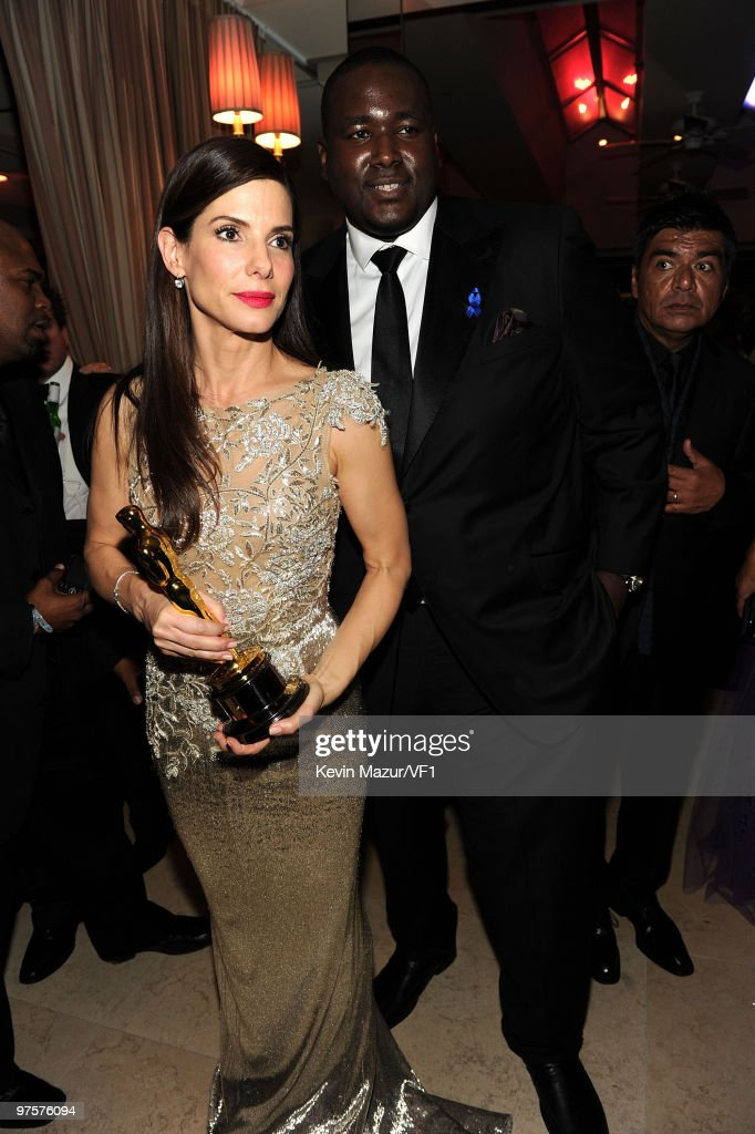 *EXCLUSIVE* Sandra Bullock and Quentin Aaron attends the 2010 Vanity Fair Oscar Party hosted by Graydon Carter at the Sunset Tower Hotel on March 7, 2010 in West Hollywood, California.