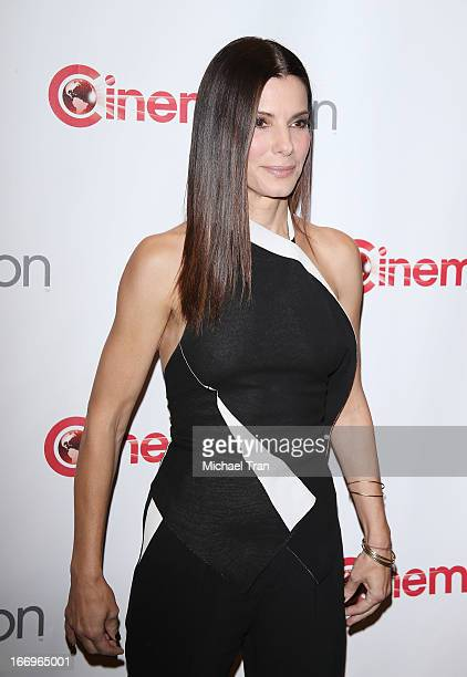 Sandra Bullock arrives at a Twentieth Century Fox presentation to promote the upcoming film 'The Heat' at Caesars Palace during CinemaCon the...