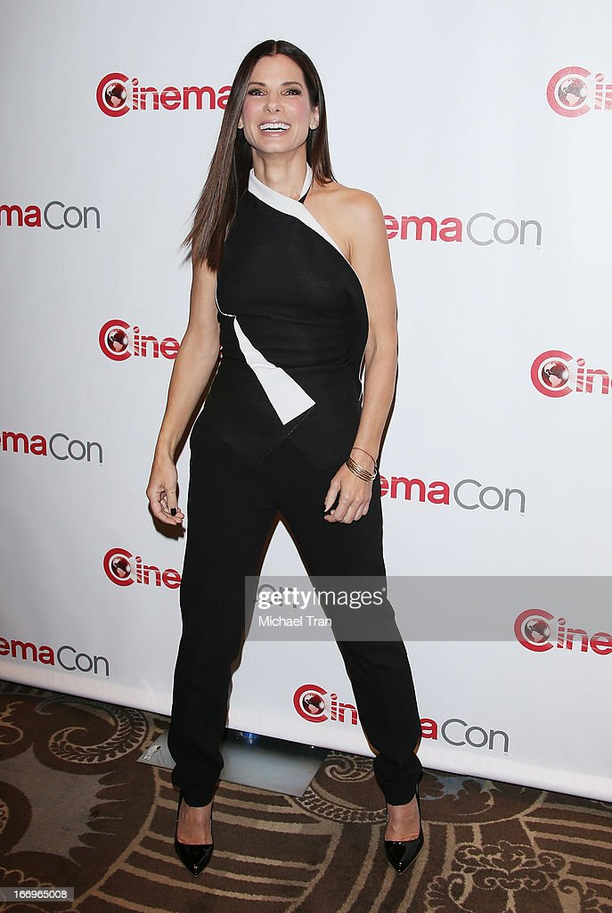 Sandra Bullock arrives at a Twentieth Century Fox presentation to promote the upcoming film 'The Heat' at Caesars Palace during CinemaCon, the official convention of the National Association of Theatre Owners on April 18, 2013 in Las Vegas, Nevada.
