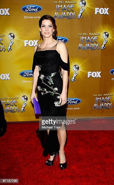 Sandra Bullock arrives at the 41st NAACP Image Awards held at The Shrine Auditorium on February 26 2010 in Los Angeles California