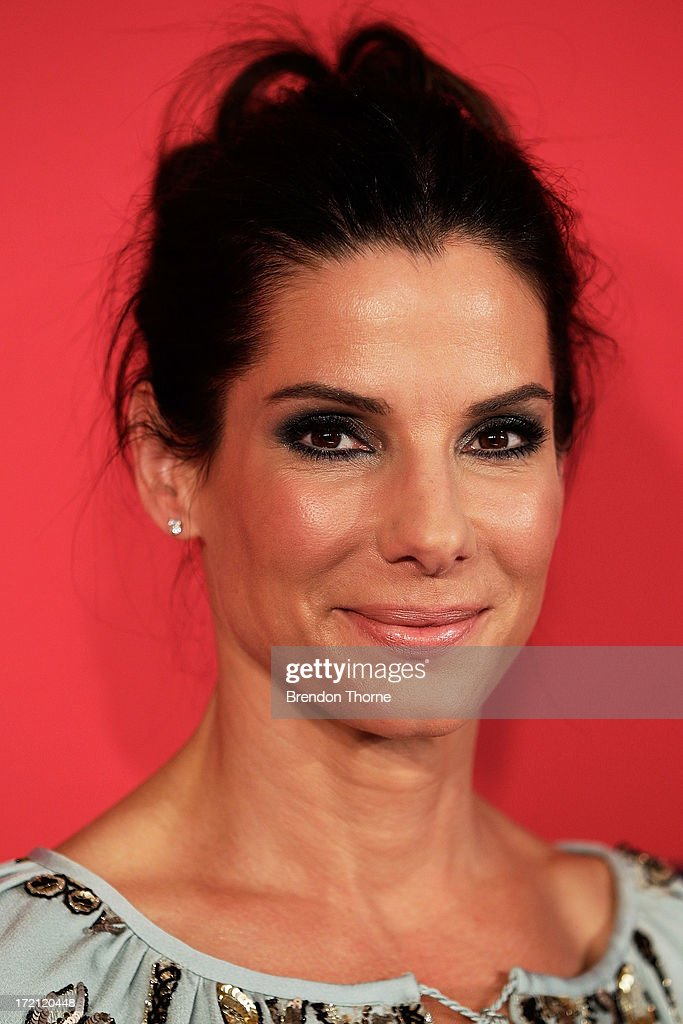 <a gi-track='captionPersonalityLinkClicked' href=/galleries/search?phrase=Sandra+Bullock&family=editorial&specificpeople=202248 ng-click='$event.stopPropagation()'>Sandra Bullock</a> arrives at 'The Heat' Australian Premiere at Event Cinemas on July 2, 2013 in Sydney, Australia.