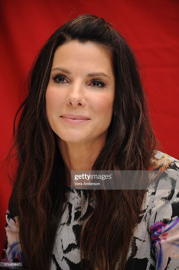 <a gi-track='captionPersonalityLinkClicked' href=/galleries/search?phrase=Sandra+Bullock&family=editorial&specificpeople=202248 ng-click='$event.stopPropagation()'>Sandra Bullock</a> at 'The Heat' Press Conference at the Ritz Carlton Hotel on June 23, 2013 in New York City.