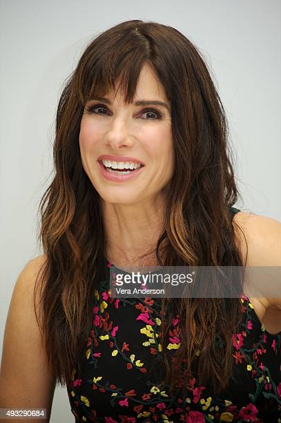Sandra Bullock at the 'Our Brand Is Crisis' Press Conference at the Four Seasons Hotel on October 17 2015 in Beverly Hills California