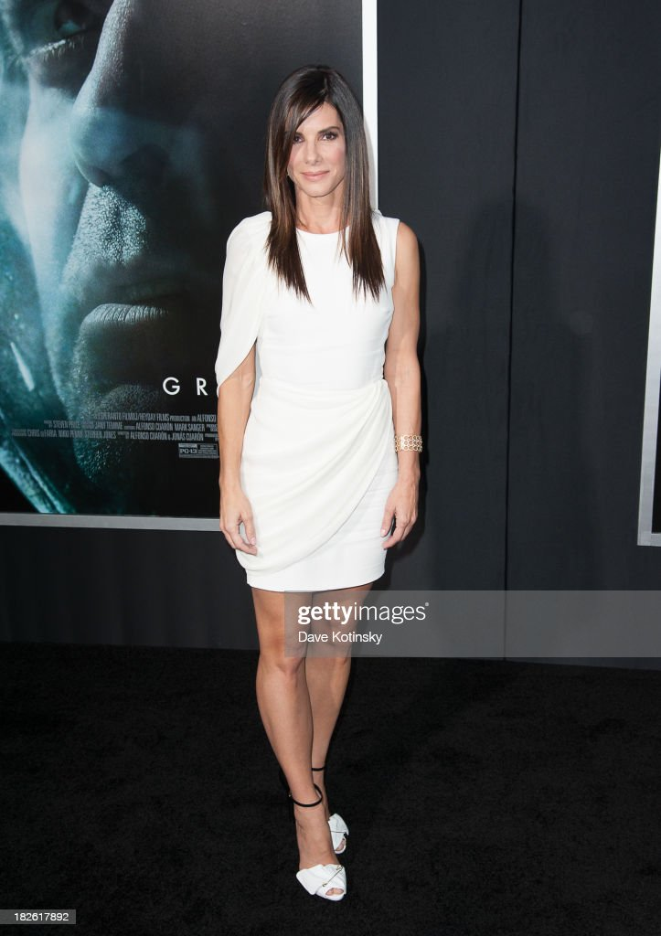 <a gi-track='captionPersonalityLinkClicked' href=/galleries/search?phrase=Sandra+Bullock&family=editorial&specificpeople=202248 ng-click='$event.stopPropagation()'>Sandra Bullock</a> attends at the 'Gravity' premiere at AMC Lincoln Square Theater on October 1, 2013 in New York City.