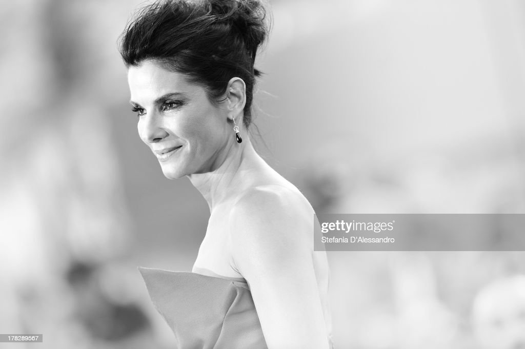 <a gi-track='captionPersonalityLinkClicked' href=/galleries/search?phrase=Sandra+Bullock&family=editorial&specificpeople=202248 ng-click='$event.stopPropagation()'>Sandra Bullock</a> attends 'Gravity' premiere and Opening Ceremony during The 70th Venice International Film Festival at Sala Grande on August 28, 2013 in Venice, Italy.