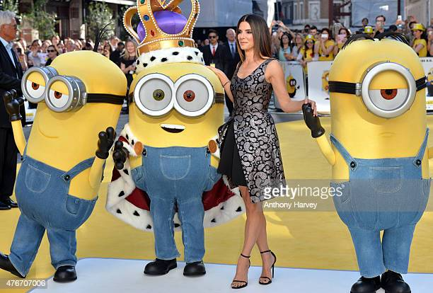 Sandra Bullock attends the World Premiere of 'Minions' at Odeon Leicester Square on June 11 2015 in London England