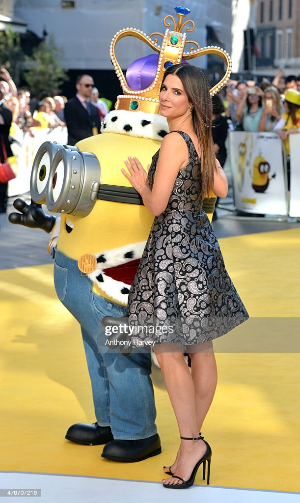 Sandra Bullock attends the World Premiere of 'Minions' at Odeon Leicester Square on June 11, 2015 in London, England.