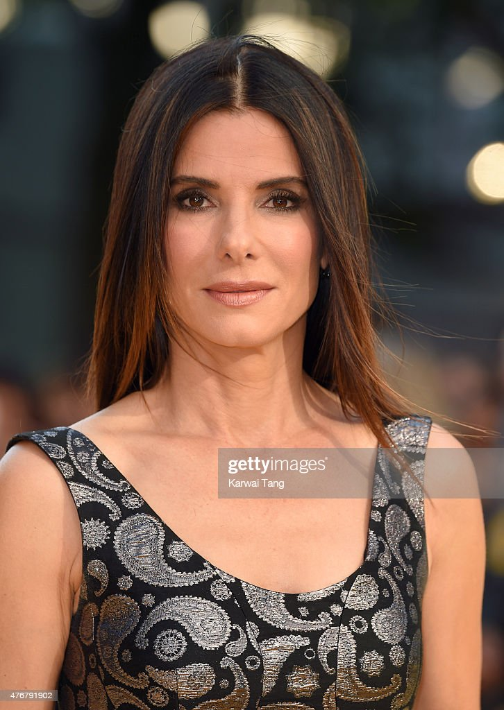 <a gi-track='captionPersonalityLinkClicked' href=/galleries/search?phrase=Sandra+Bullock&family=editorial&specificpeople=202248 ng-click='$event.stopPropagation()'>Sandra Bullock</a> attends the World Premiere of 'Minions' at Odeon Leicester Square on June 11, 2015 in London, England.