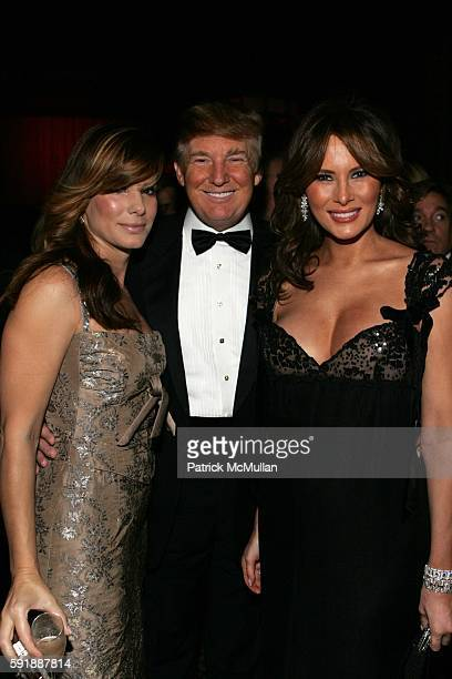 Sandra Bullock Donald Trump and Melania Trump attend Fashion Group International Presents The 22nd Annual Night of Stars Honoring 'The Romantics' at...