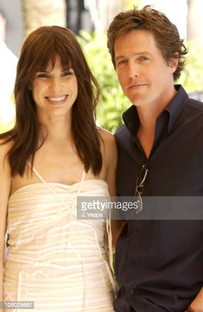 Sandra Bullock Hugh Grant during Cannes 2002 'Two Weeks Notice' Photo Call in Cannes France