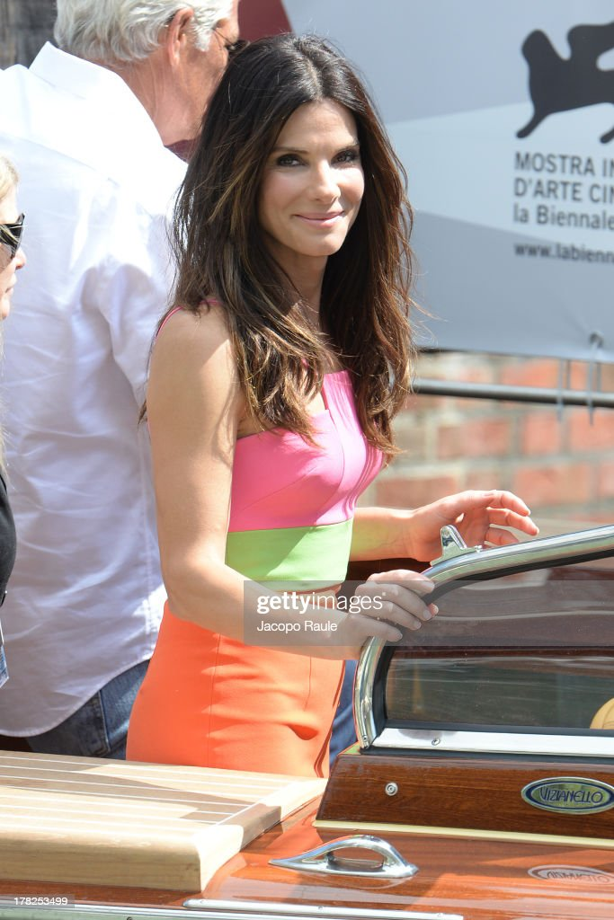 <a gi-track='captionPersonalityLinkClicked' href=/galleries/search?phrase=Sandra+Bullock&family=editorial&specificpeople=202248 ng-click='$event.stopPropagation()'>Sandra Bullock</a> is seen during The 70th Venice International Film Festival on August 28, 2013 in Venice, Italy.