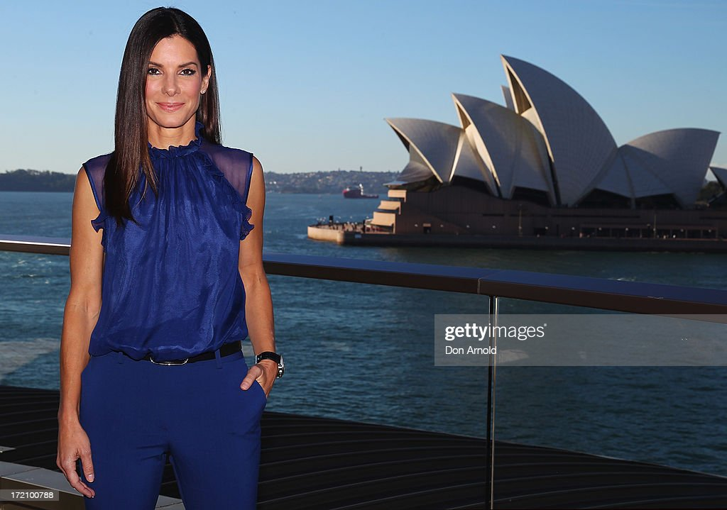 <a gi-track='captionPersonalityLinkClicked' href=/galleries/search?phrase=Sandra+Bullock&family=editorial&specificpeople=202248 ng-click='$event.stopPropagation()'>Sandra Bullock</a> poses during the 'The Heat' photo call at the Park Hyatt on July 2, 2013 in Sydney, Australia.