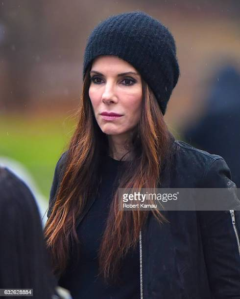 Sandra Bullock seen at the 'Ocean's Eight' film set in Central Park on January 24 2017 in New York City