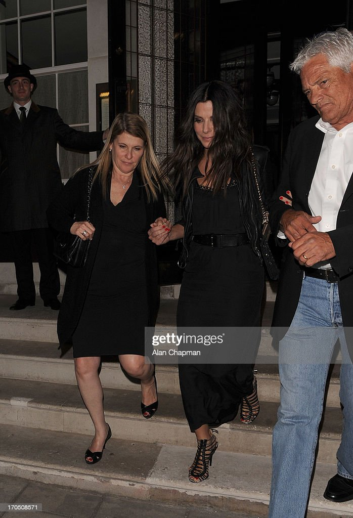 <a gi-track='captionPersonalityLinkClicked' href=/galleries/search?phrase=Sandra+Bullock&family=editorial&specificpeople=202248 ng-click='$event.stopPropagation()'>Sandra Bullock</a> sighting at 34 Restaurant, Mayfair on June 13, 2013 in London, England.