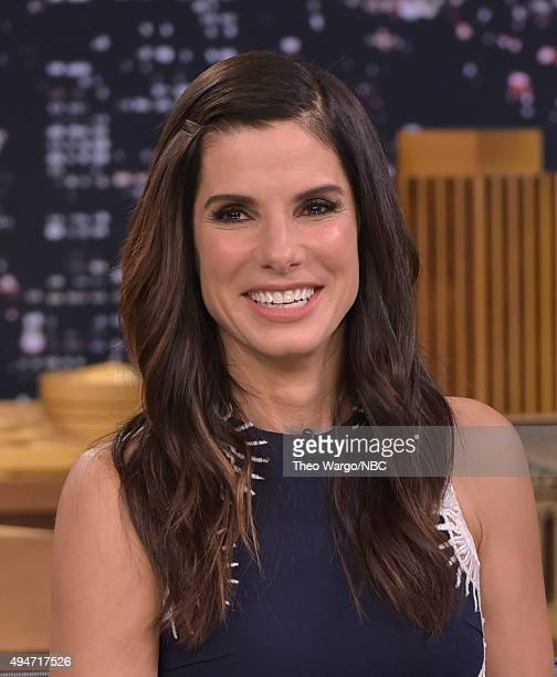 Sandra Bullock Visits 'The Tonight Show Starring Jimmy Fallon' at Rockefeller Center on October 28 2015 in New York City