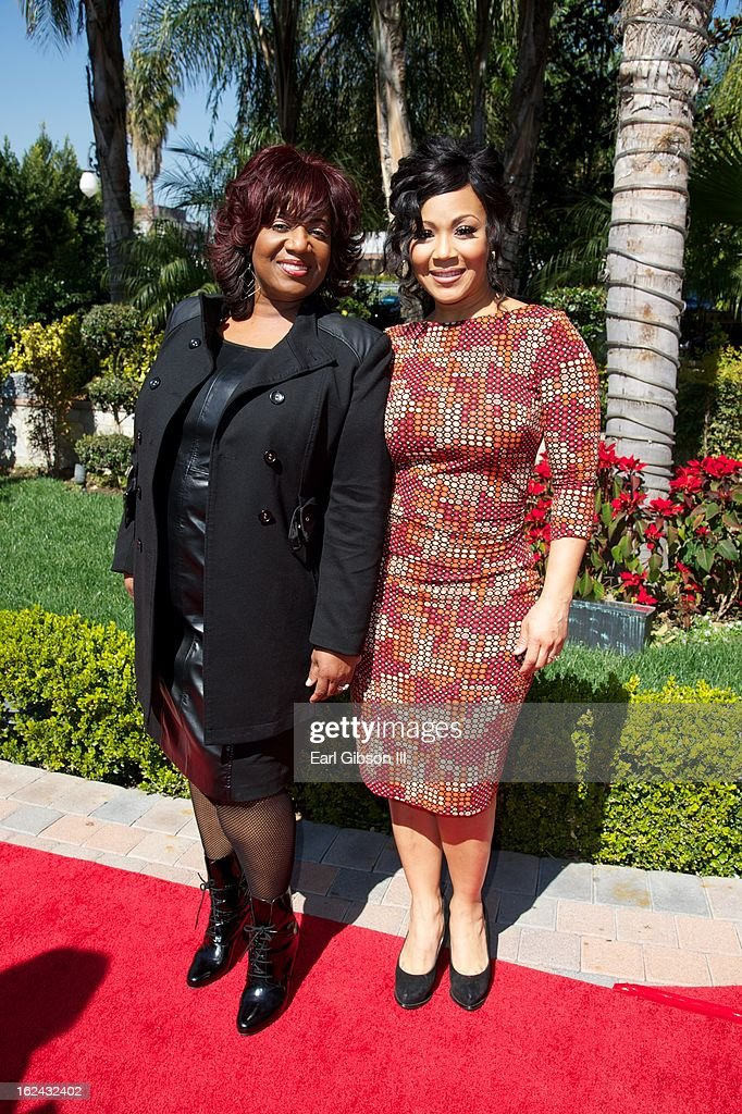 Sandra Campbell and daughter Erica Atkins-Campbell attend the 2nd Annual 'Gospel Goes To Hollywood' Awards Luncheon at Taglyan Cultural Complex on February 22, 2013 in Hollywood, California.