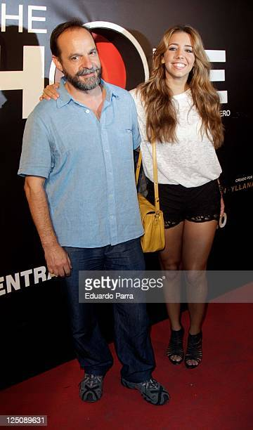 Sandra Cervera and father attend 'The Hole' premiere photocall at Haagen Dasz theatre on September 15 2011 in Madrid Spain