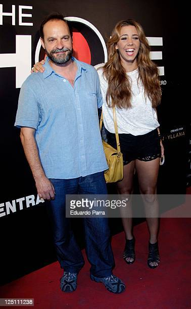 Sandra Cervera and father attend ''The Hole'' premiere photocall at Haagen Dasz Theatre on September 15 2011 in Madrid Spain