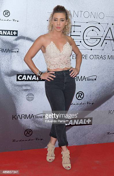 Sandra Cervera attends 'Antonio Vega Tu voz entre otras mil' photocall premiere at Proyecciones cinema on May 12 2014 in Madrid Spain