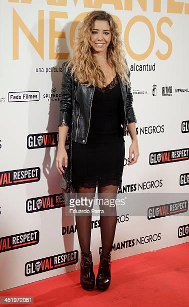 Sandra Cervera attends 'Diamantes Negros' premiere at Palafox cinema on November 25 2013 in Madrid Spain