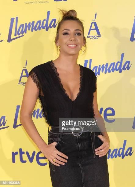 Sandra Cervera attends the 'La Llamada' premiere yellow carpet at the Capitol cinema on September 26 2017 in Madrid Spain