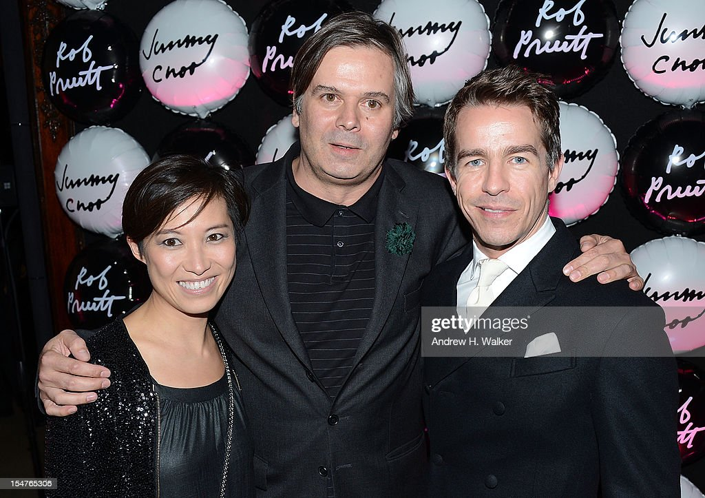 Sandra Choi, <a gi-track='captionPersonalityLinkClicked' href=/galleries/search?phrase=Rob+Pruitt&family=editorial&specificpeople=6471139 ng-click='$event.stopPropagation()'>Rob Pruitt</a> and Simon Holloway attend the Jimmy Choo and <a gi-track='captionPersonalityLinkClicked' href=/galleries/search?phrase=Rob+Pruitt&family=editorial&specificpeople=6471139 ng-click='$event.stopPropagation()'>Rob Pruitt</a> Collection Launch on October 25, 2012 in New York City.