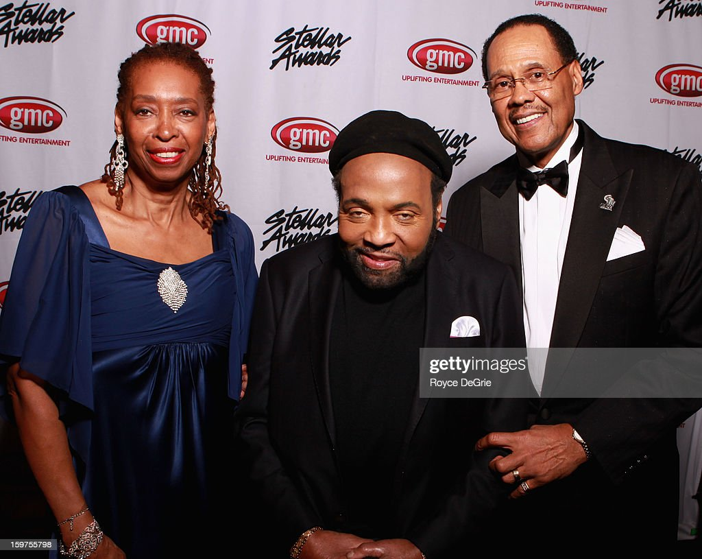 Sandra Crouch, Andrae Crouch, and Central City Productions President & CEO Don Jackson attend the 28th Annual Stellar Awards at Grand Ole Opry House on January 19, 2013 in Nashville, Tennessee.
