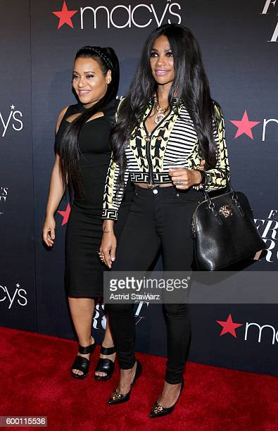 Sandra Denton and Cheryl James of Salt N Pepa attend Macy's Presents Fashion's Front Row on September 7 2016 in New York City
