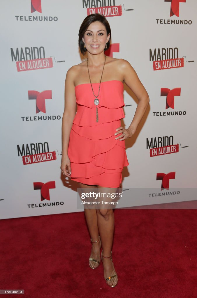 Sandra Destenave attends Telemundo's 'Marido en Alquiler' Presentation at Telemundo Studios on July 10, 2013 in Miami, Florida.