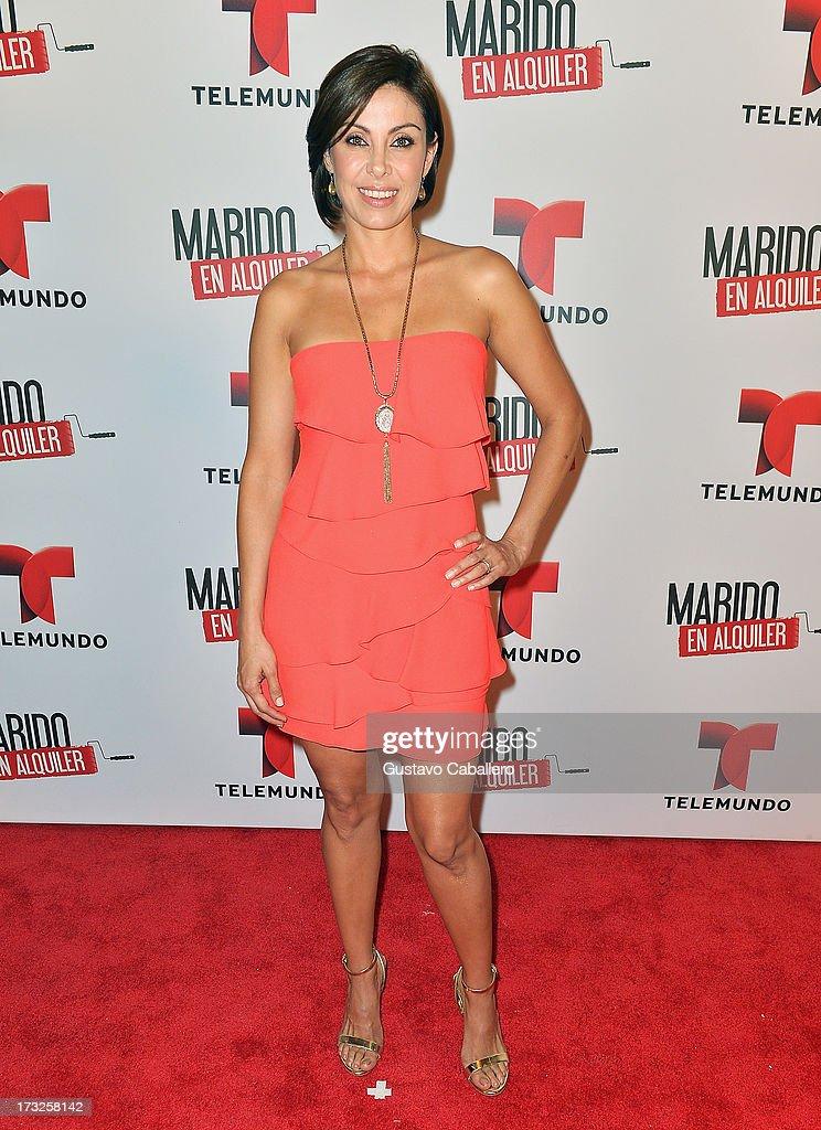 Sandra Destenave attends Telemundos 'Marido en Alquiler' Presentation on July 10, 2013 in Miami, Florida.