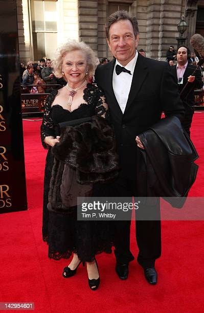 Sandra Dickinson and Michael Brandon attends the 2012 Olivier Awards at The Royal Opera House on April 15 2012 in London England