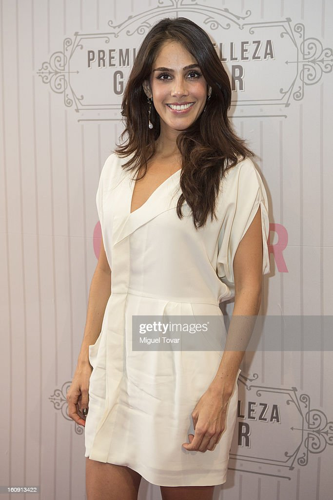 Sandra Echevarria attends the 'Glamour Magazine Beauty Awards' at Indianilla cultural center on February 7, 2013 in Mexico City, Mexico.