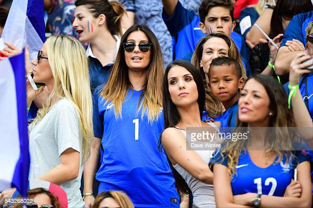 Sandra Evra Marine Lloris Ludivine Sagna and Camille Sold during the European Championship match Round of 16 between France and Republic of Ireland...