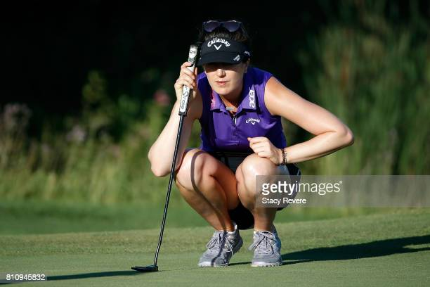 Sandra Gal of Germany lines up a putt on the 15th green during the third round of the Thornberry Creek LPGA Classic at Thornberry Creek at Oneida on...