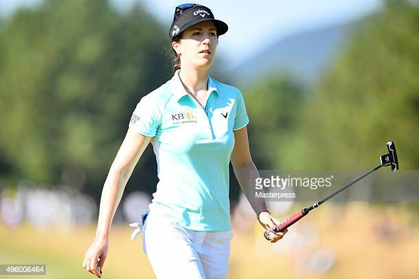 Sandra Gal of Germany looks on during the first round of the TOTO Japan Classics 2015 at the Kintetsu Kashikojima Country Club on November 6 2015 in...