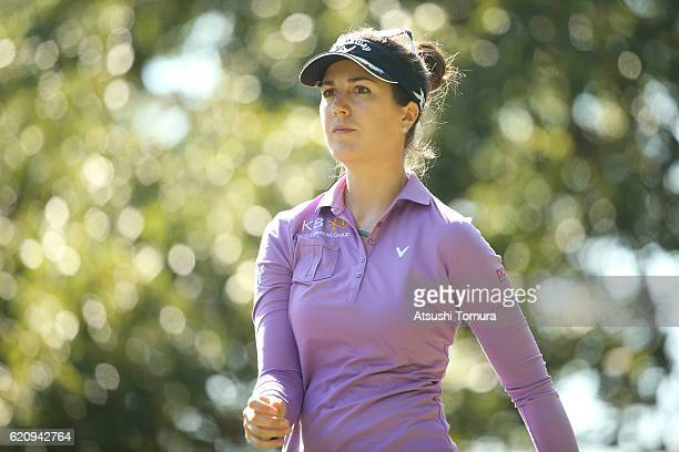 Sandra Gal of Germany looks on during the first round of the TOTO Japan Classics 2016 at the Taiheiyo Club Minori Course on November 4 2016 in...